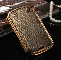 Luxury Bling case for Blackberry 9900 Torch diamond crystal back cover novelty rhinestone cell phone cover