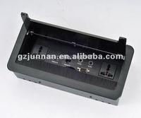 New design aluminium Clamshell desktop socket with brush for advance meeting system