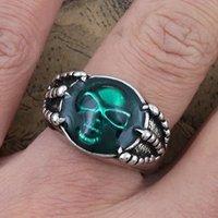 Free shipping Vintage Bronze Skull Ring Retro Dragon Claw Ring Fashion Ring Jewelry