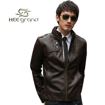 2015 Fashion Classic Men's PU Leather Coat Jacket 2 Colors 4 Sizes Black,Brown M,LXL, XXL MWP014