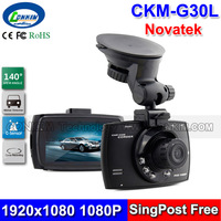 Novatek 96620 Car DVR Camera Black Box 1080P Full HD Loop Recording + IR Night Vision 140 Degree Wide Angle G30L