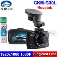 Novatek 96620 Car DVR Camera Black Box 1080P Full HD Loop Recording + IR Night Vision 140 Degree Wide Angle G30L