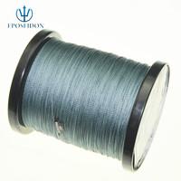No.1 Quality&Service 4 Strand Grey Color 1000M Japan Multifilament Super Strong 100% PE Braid Fishing Line 20LB