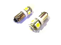 10  pieces WHITE  BA9S 5050 5 SMD LED INDICATOR DOME INTERIOR PARKING SIGNAL LIGHT BULBS 5050 3CHIPS LIGHT 5 SMD LED BULBS
