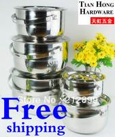 TianHong 5pcs cuisine pot set/camping pot/stock pot with handle