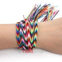 Wholsale-5pcs Lucky Trendy Colorful Disco Braid Friendship Cords Strands Bracelets 260527
