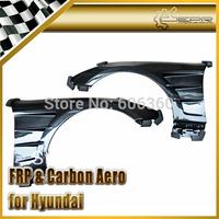 FOR Hyundai Coupe Genesis 09 Carbon Fiber H2 Style Front Vented Fender 2PCS