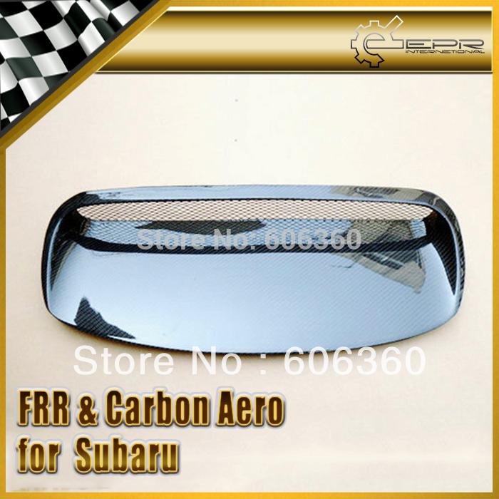 Subaru impreza 08 grb escotilla trasera oem estilo de fibra de carbono