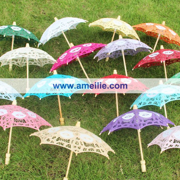 Wedding Party Decoration Small Lace Parasol Baby Shower decoration Lace Umbrella,DHL Free Shipping(China (Mainland))