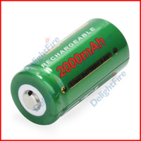 2 x Green GTL 16340 CR123A LR123A 2000 mAh 3.6V Rechargeable Li-ion Battery