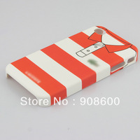 Free Shipping New red &white Stripe T-shirt Hard Cover Case for Apple iPhone 4 4G/4S CL-005