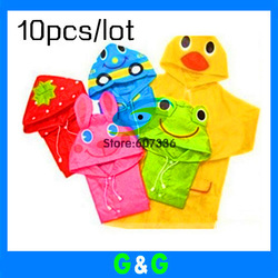 Hotsale 10pcs/lot Animal Raincoat/Children's Raincoat/Kids Rain Coat Children's Rainwear/Rainsuit,Kids Waterproof Garment(China (Mainland))