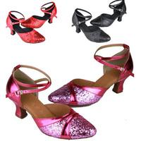 size 34-40  Ladies' Dance Shoes.6cm sequin Latin shoes.woman dancing pumps. drop shipping dc1008