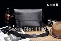 fashion men shoulder bag,men genuine leather messenger bag,free shipping(Cross-section)