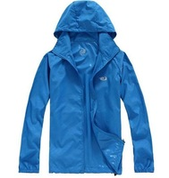 Men women  Sweethearts outfit Windproof Waterproof UV Jacket Outdoor Water sports camping Hiking thin coat easy carry