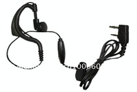 Earphone/Earpiece with inline PTT/microphone for Kenwood 2-pin Baofeng UV-5R BF-888S Wouxun and Most Chinese radio earpiece UV5R