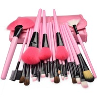 HOT SELLING! powder/blush /BROW/LIP/smudger 24PCS Makeup brush set FREE SHIPPING