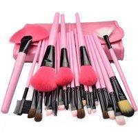 HOT SELLING! powder/blush /BROW/LIP/smudger 24PCS Makeup brush set FREE SHIPPING