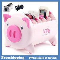 2014 Storage box pig design pen box pen holder 22*13*12cm free shipping