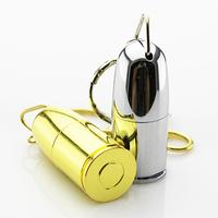 Retail Key Chain Slug Bullet Shape USB Flash Drive Thumb Pen Drive Memory Stick Pendrive 4GB 8GB 16GB 32GB 64GB Free shipping