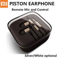 3.5mm Xiaomi Piston Earphone And Headphones With Remote Mic for XIAOMI Redmi Note MI2 MI2S MI2A MI3 Stereophone Free Shipping