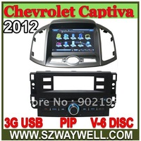 Car DVD for Chevrolet Captiva 2012 with 3G USB host GPS Navi RDS IPOD BLUETOOTH TV Virtual 6 Disc function Navitel and igo map