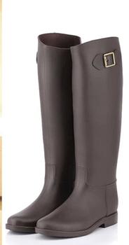 Women Rain Boots Rubber Boots Botas Femininas 2014 Rainboots Galocha Sapatos Femininos Rubber Boots For Women Solid Buckle