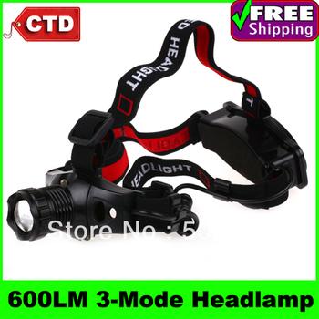 High-quality RJ-0183 600 Lumens CREE XPG-R5 3-Mode Rechargeable Headlamp LED Light
