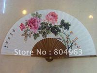 [China Confucian Arts]5pcs/lot of free shipping  hand paper fan/chinese traditional folk techniqu hand made
