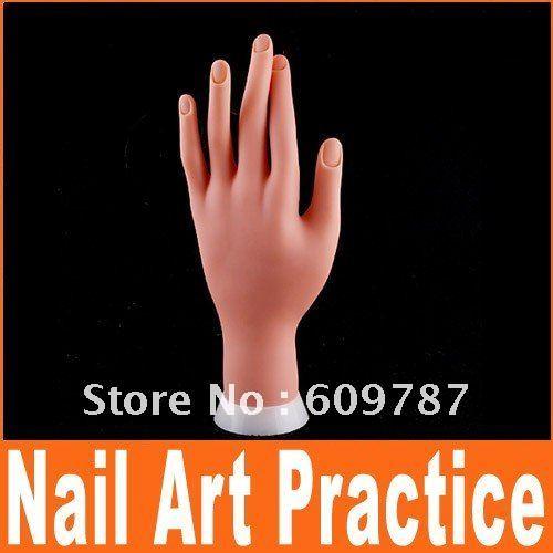 Wholesale 2 piece/Lot Nail art false hand Movable practice hands(China (Mainland))