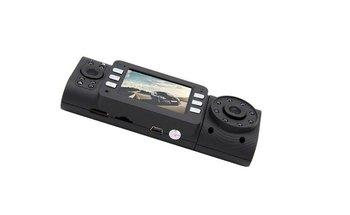Hot X4000 Car Dvr/Camera Dual Lens 16 IR LED Night Vision 1280x720p Car Dvr Cam Recorder anp  Loop Recording Free Shipping