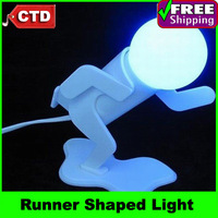 Free Shipping Novelty Runner Shaped Night Light--Color Will Be Dispatched at Random