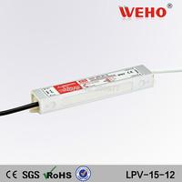 (LPV-15-12) 15W Waterproof Electronic LED Driver 15W 12vdc led waterproof power supply
