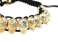 Free Shipping 3pcs Wholesale Price 2013 New Designer Fashion Promotion Skull Shamballa Bracelet 2013 Most Popular Women Bracelet