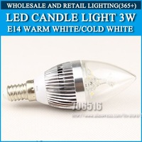 Wholesale 100PCS LED candle light 3W 4W 5W E14 AC85-265V Silver Cold white/warm white Free Shipping / DHL