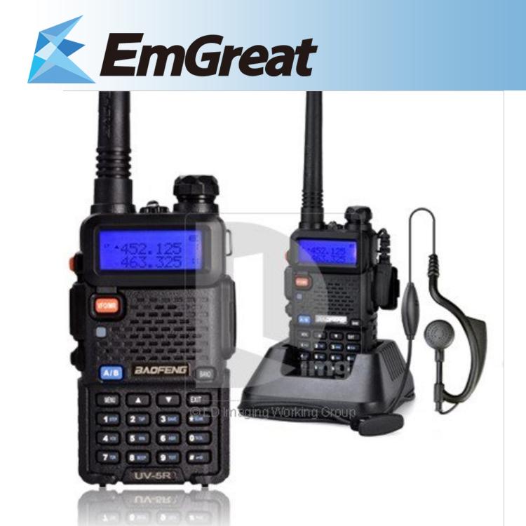 2pcs/lot BAOFENG UV-5R UV 5R UV5R Portable Radio Dual Band VHF/UHF 136-174/400-480MHz Transceiver Two Way Radio Walkie Talkie(China (Mainland))