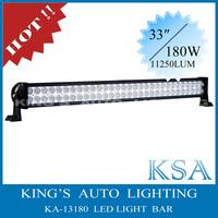 Free Shipping !!!! 34'' 180W  led off-road light bar , 10800LM led off road bar, rigid led light bar