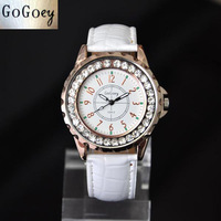 Fashion Women Quartz Wristwatches Leather Jewelry Watches Casual Student Crystal Dress Watch New