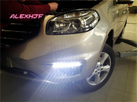 Super Bright Cree LED chips daytime running lights DRL at fog lamp cover for 2012~13 Renault Koleos 1:1 replacement, free ship