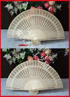 Free Shipping 100pcs/lot fragrance wood fan for wedding fan