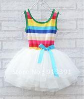 baby girl's sleeveless dress for summer ,children tutu dress ,free shipping