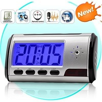 Free Shipping Digital Clock Hidden Camera DVR USB Motion Alarm.Mini Digital Video Camera