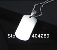 Wholesale 12pcs High Quality Stainless Steel Military License Blank Pendant,Pet Dog Tag,Free Shipping