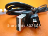 Free shipping the cheapest usb cable, 20 pcs/lot,2FT 5PIN MINI B TO A USB 2.0 CABLE MP3 MP4 CAMERA