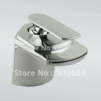 NEW Waterfall Brushed Nickel Bathroom Basin Sink Mixer Tap CM0197 Mixer Tap Faucet