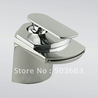 NEW Waterfall Brushed Nickel Bathroom Basin Sink Mixer Tap CM0197 Mixer Tap Faucet