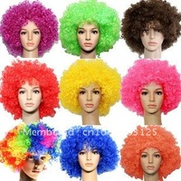 1000pc/lot Fashion football fans wig Party halloween cosplay wigs Christmas/festival  Mix Color OK Fedex UPS DHL free shipping