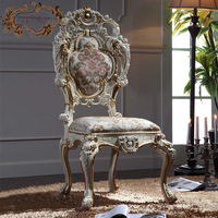 luxury italian style dining chairs - solid wood hand carved chair