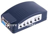 10pcs PC TO TV Converter VGA to CVBS Converter, with OSD Operating Display, Up to 108Hz Refresh Rate Converter vga Box