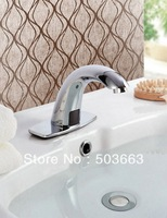 Hot Cold Mixer Sensor Tap Easy Using Bathroom Basin & Sink Chrome Faucet CM0306